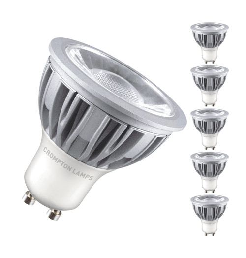 Crompton Lamps Dimmable LED GU10 Spotlight 5W (5 Pack) Warm White 45° Image 1