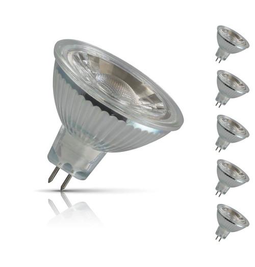 Crompton Lamps LED MR16 Spotlight 5W GU5.3 12V (5 Pack) Warm White 40° (35W Eqv) Image 1