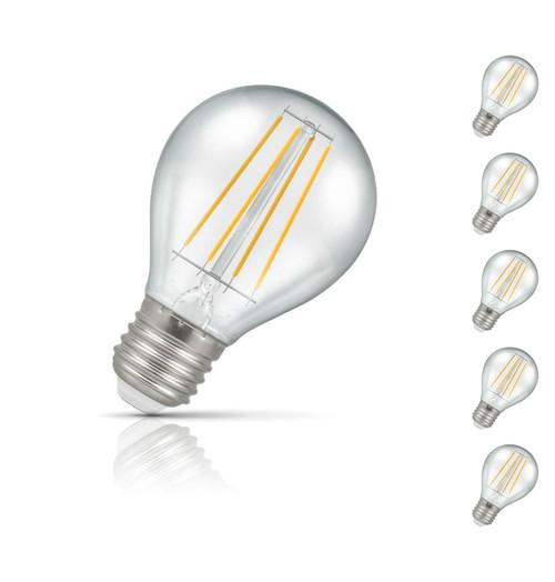 Crompton Golfball LED Light Bulb E27 4W (45W Eqv) Warm White 5-Pack