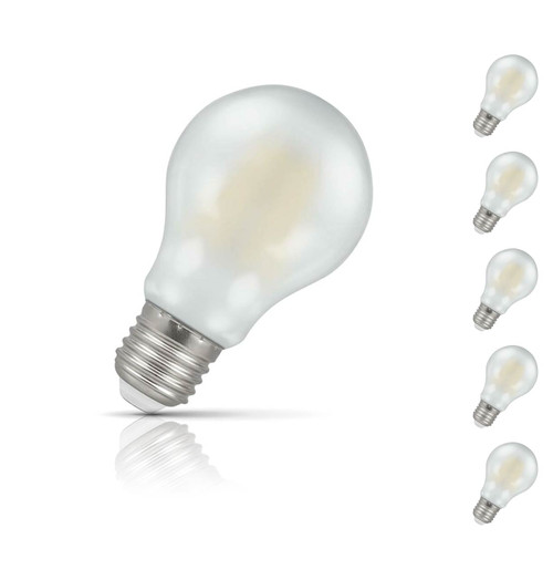 Crompton Lamps Dimmable LED GLS 7.5W E27 Filament (5 Pack) Warm White Pearl (60W Eqv)
