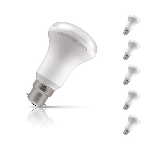 Crompton R64 Reflector LED Light Bulb B22 6W (60W Eqv) Warm White 5-Pack