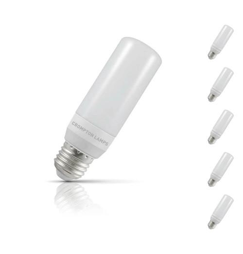 Crompton Stick LED Light Bulb E27 7.5W (60W Eqv) Warm White 5-Pack Opal
