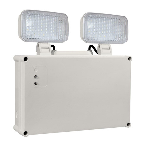 Phoebe LED Emergency Twin Spot 2.3W Daylight Krios Image 1