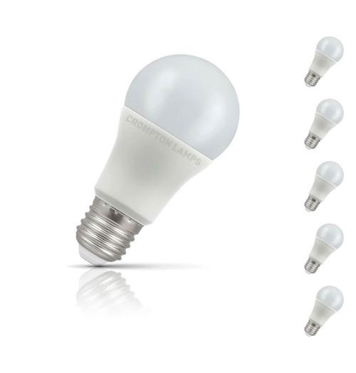 Crompton GLS LED Light Bulb E27 11W (75W Eqv) Daylight 5-Pack Opal