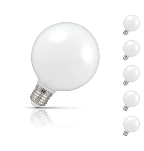 Crompton Globe LED Light Bulb G95 E27 7W (60W Eqv) Warm White 5-Pack