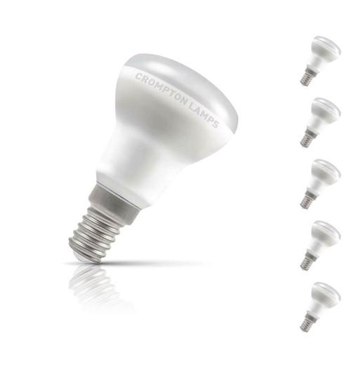 Crompton R39 Reflector LED Light Bulb E14 3W (35W Eqv) Warm White 5-Pack