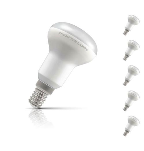 Crompton R50 Reflector LED Light Bulb E14 6W (40W Eqv) Warm White 5-Pack