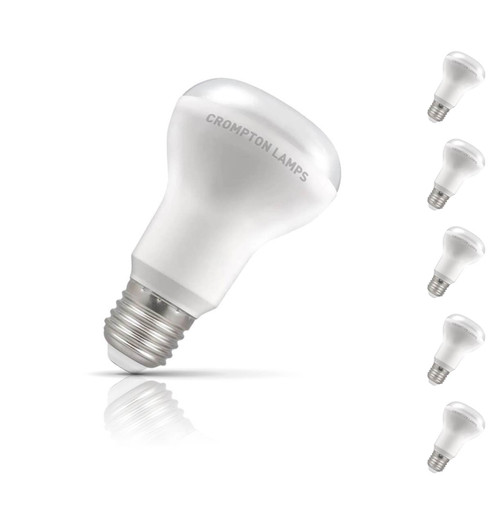 Crompton R64 Reflector LED Light Bulb E27 8W (85W Eqv) Warm White 5-Pack