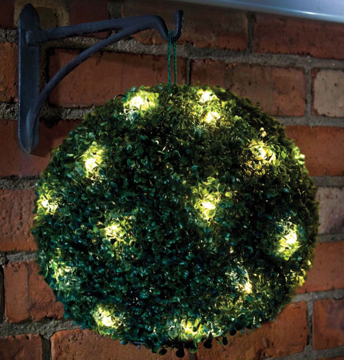 Solalite LED Topiary Ball Solar Green 28cm Image 1