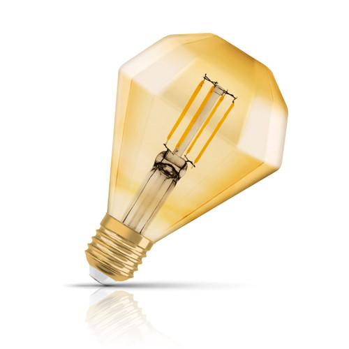 Osram Diamond LED Light Bulb Filament E27 4.5W (40W Eqv) Warm White Image 1