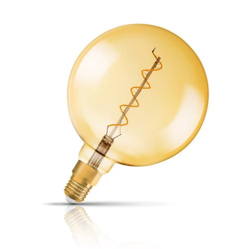 Osram Globe LED Light Bulb Dimmable Filament E27 5W (28W Eqv) Warm White Image 1