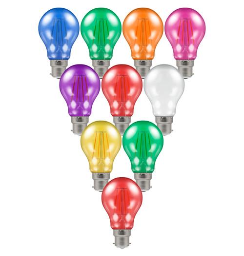 Crompton GLS LED Light Bulb Festoon B22 4.5W (25W Eqv) Mixed 10-Pack