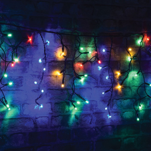 Lyyt-Connect 2m 100 Multi-Coloured LED Connectable Outdoor Icicle Lights Image 1