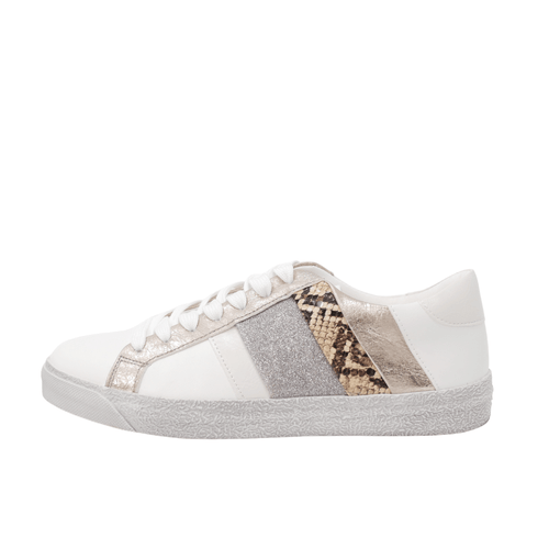 Findlay Taupe Snake Trainers