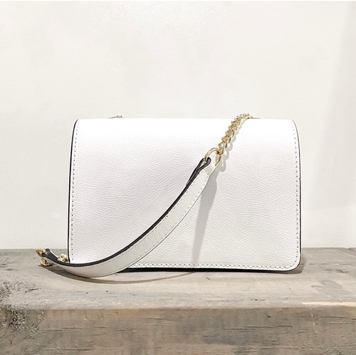 Leather Gold Chain Cross Body Bag