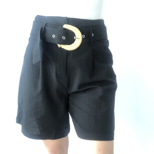 Belted Paper Bag Shorts HP0862