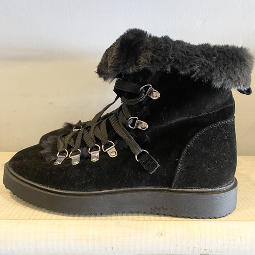 Furry Hiking Boots