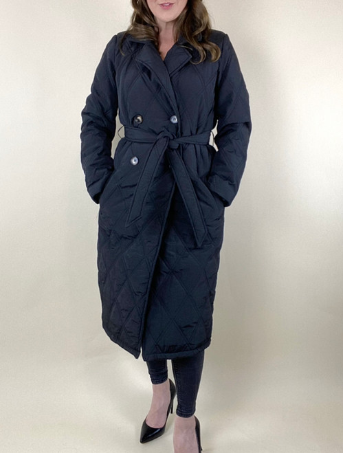 Copine Quilted 3/4 Coat