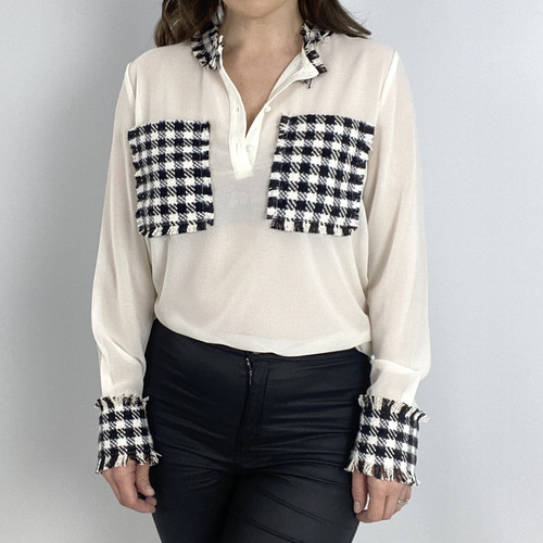 Capsule Houndstooth Blouse