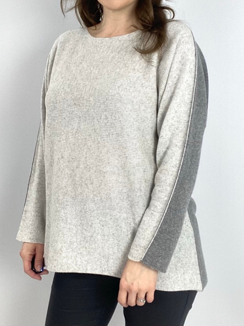 Cashmere Two Tone Knit - Grey