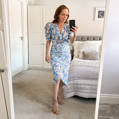 Ruched Front Tea Dress