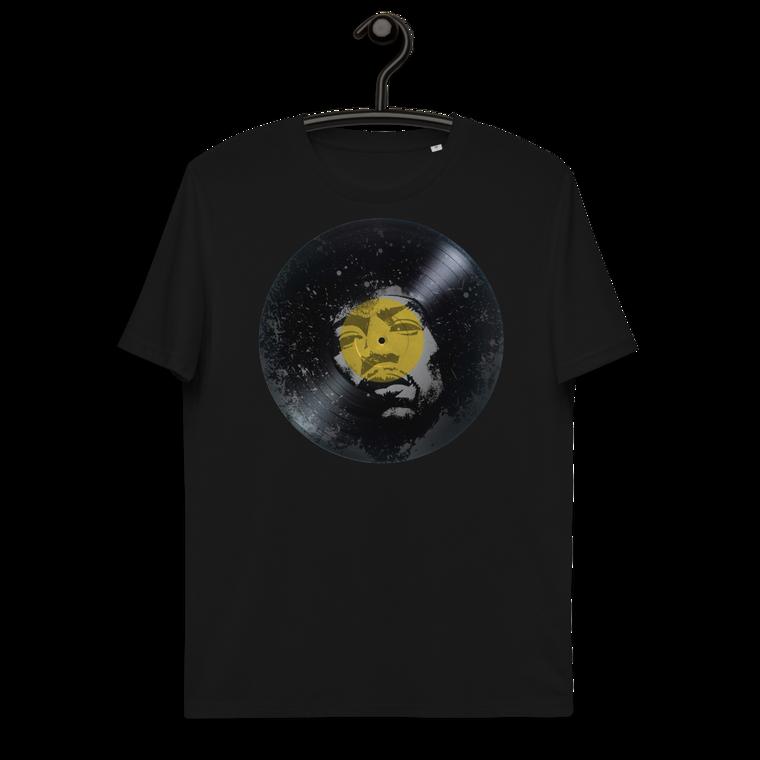 VINYL. Jimi Hendrix Unisex organic cotton t-shirt.