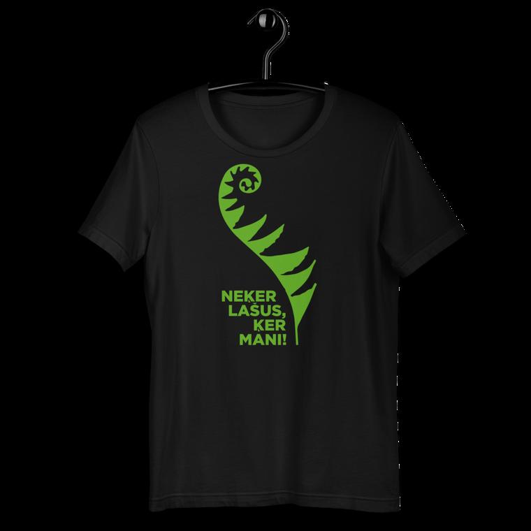 LĪGO. Short-Sleeve Unisex T-Shirt GREEN PRINT