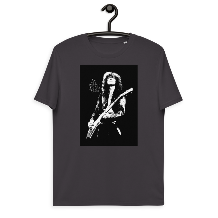 LET THE MUSIC BE YOUR MASTER. Unisex organic cotton t-shirt