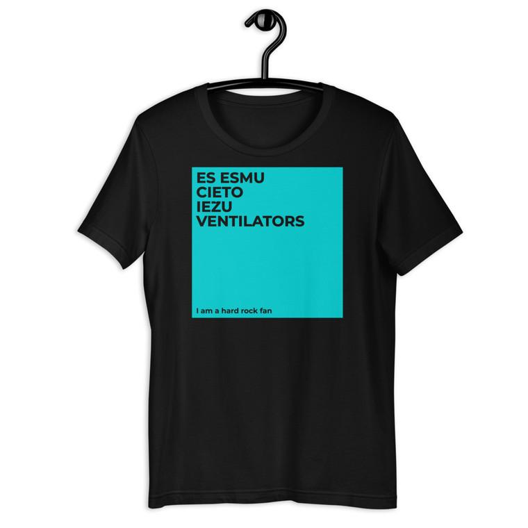 VENTILATORS. Short-Sleeve Unisex T-Shirt. TURQUOISE PRINT