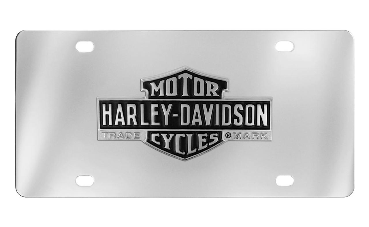 Huntington Beach Chrome Plate Brass License plate Frame Holder Tag Baron LFI