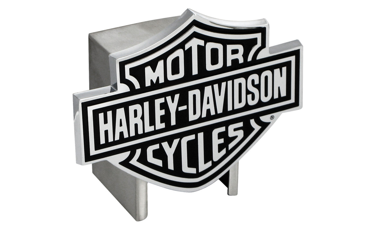 Harley-Davidson Black Bar /& Shield Trailer Hitch Cover Plug