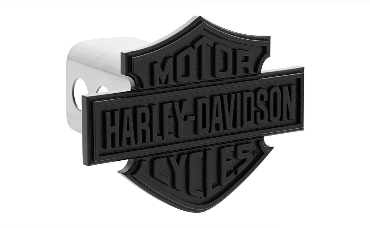 Harley-Davidson Black Powder Coated License Plate Frame with Bar /& Shield