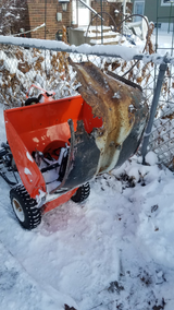 That time I sucked a Series 2 Lambretta Legshield into my snowblower