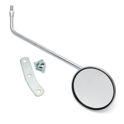 Left Mirror (Round, Chrome); Genuine Stella, Vintage Vespa