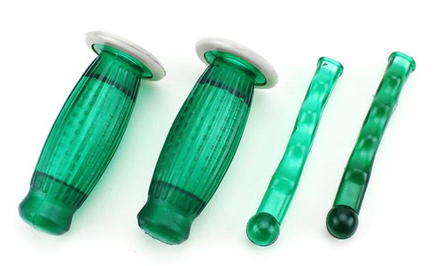22mm Biemme Superflex Grips and Lever Covers-Green