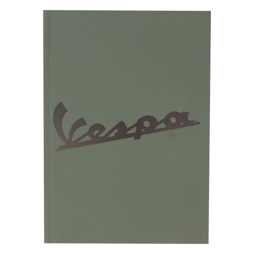 "Notebook (Vespa Logo, Green, 6"" x 8"")"