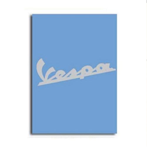 """Notebook (Vespa Logo, Blue, 6"""" x 8"""")"""
