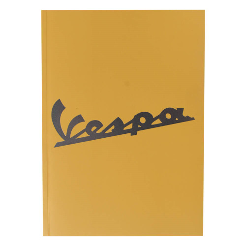 "Notebook (Vespa Logo, Yellow, 6"" x 8"")"