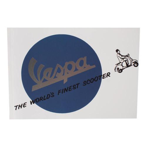 """Notepad (Vespa, World's Finest Scooter, 6"""" x 8"""")"""