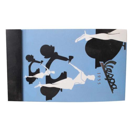 "Mini Notepad (Vespa, Blue Silhouette, 4.25"" x 2.75"")"