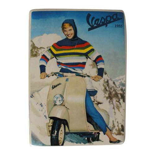 """Mini Tin Sign (Vespa, Alpine Lady, 6"""" x 8"""")"""