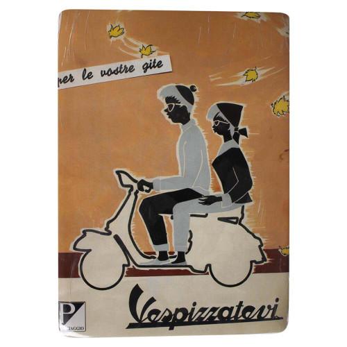 """Mini Tin Sign (Vespa, Vespizzatevi, 6"""" x 8"""")"""