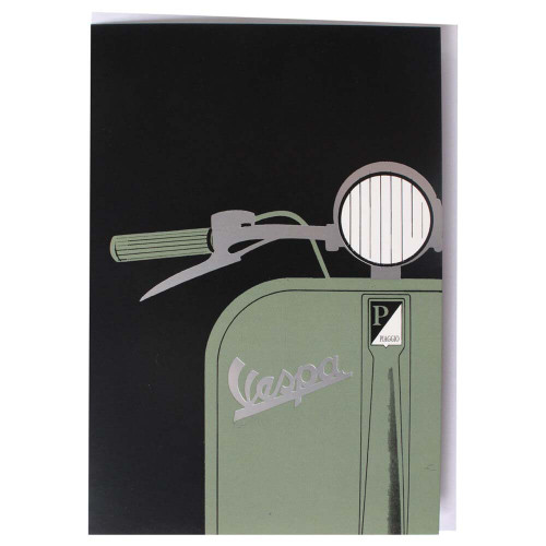 "Greeting Card (Vespa, Green Handlebar, 4"" x 6"")"