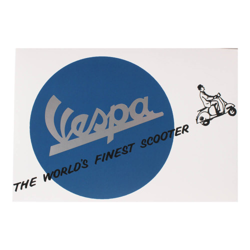 """Greeting Card (Vespa, World's Finest Scooter, 4"""" x 6"""")"""