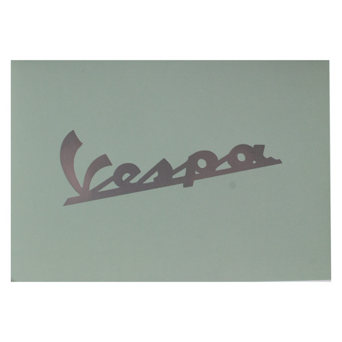"Greeting Card (Blue Vespa Script, 4"" x 6"")"