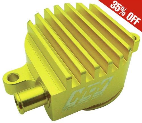 Billet High-flow Crank Breather (Gold) ; Yamaha Vino 125 NCY