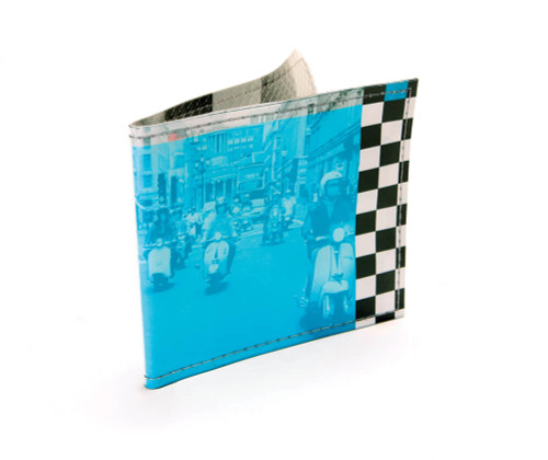 Wallet (Checker w/Scooter riders)