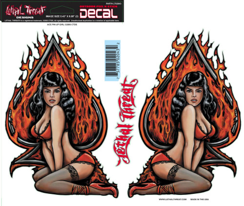 Decal/Sticker, Ace Pin Up Girl - 6 x 18""