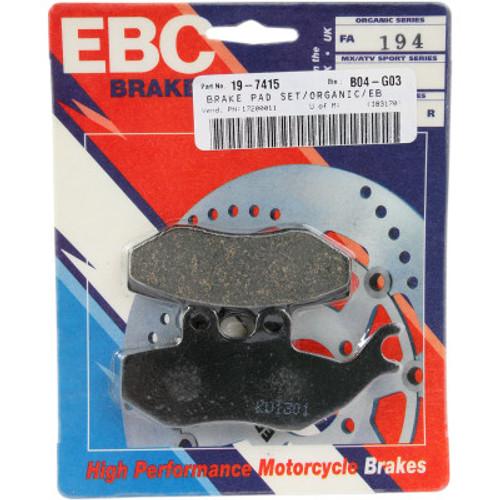 EBC Organic Brake Pads-GT200