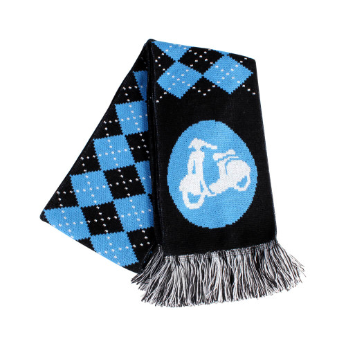 Scooter Hooligan Scarf (Blue Argyle)